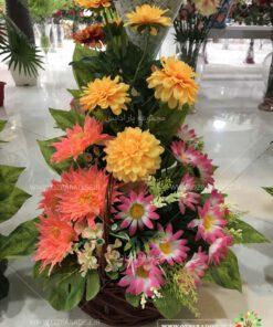 سبد گل مصنوعی بسیار زیبا در تنوعی بیش از 350 نحصول