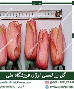 گل رز لمسی صورتی