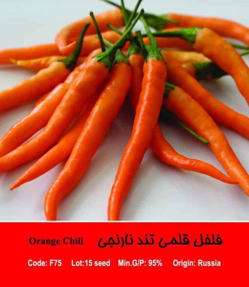 بذر فلفل قلمی تند نارنجی Orange Chili