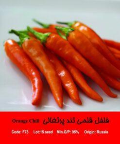 بذر فلفل قلمی تند پرتغالی Orange Chili