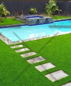 چمن مصنوعی پوششی بر روی زمین باغات و باغچه ها