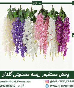 فروش ریسه مصنوعی گلدار در رنگ بندی های مختلف 5بازو
